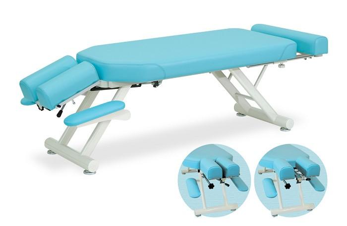 高田ベッド スリマーベッド TB-1095 整体ベッド マッサージベッド 施術台 整骨院 治療院 うつ伏せ 手置台付き フットレスト付き
