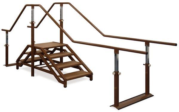 高田ベッド 歩行階段パラレル TB-1297 歩行訓練 リハビリ 平行棒 整体ベッド マッサージベッド 施術台 整骨院 治療院 リハビリ 訓練台