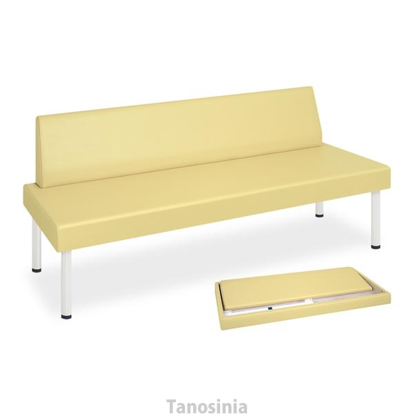背付きタイプの廉価版待合室ベンチ 高田ベッド STスミス TB-1489-02