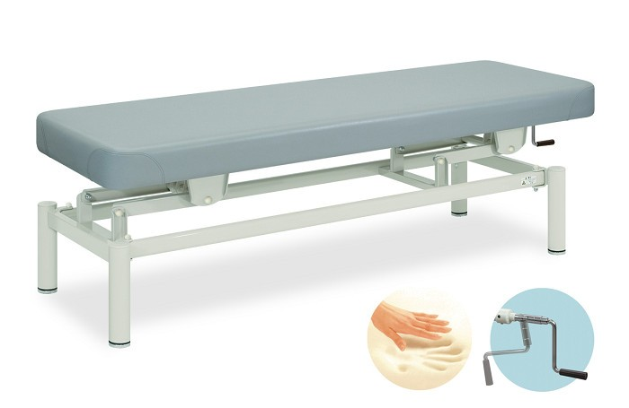 高田ベッド 低反発手動ハイロ- TB-150 整体ベッド マッサージベッド 施術台 整骨院 治療院 リハビリ 訓練台