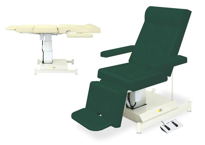 高田ベッド 病院 医院 透析 採血 点滴 2EX治療チェアー アジャスター付 TB-978-02