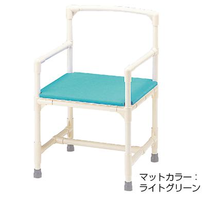 シャワーチェア 介護用品 風呂椅子 シャワーいす 背もたれ肘付型 マット固定タイプ CAA-12 矢崎化工