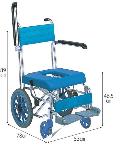 介護用 シャワーキャリー お風呂用車いす「フローラ」介助型 MHC-46ミキ hkz