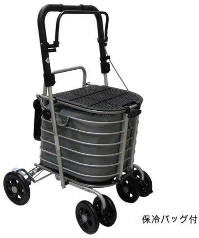 ハーモニーAL アルミカー 保冷バッグ付 島製作所 シルバーカー 介護用品
