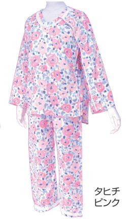 介護用品 婦人用 イージー オン・オフ療養パジャマ レディース 胃ろうチューブ 気管チューブ 対応 THA