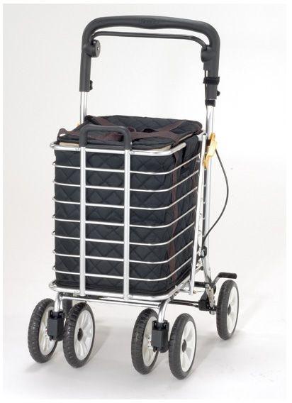 ノーブルワゴン L 保冷バッグ付き マキライフテック シルバーカー 介護用品