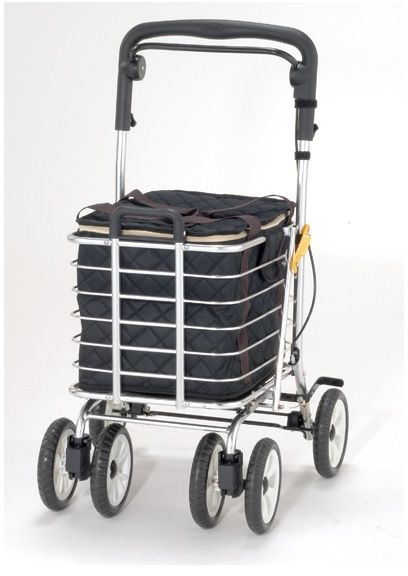 ノーブルワゴン S 保冷バッグ付き マキライフテック シルバーカー 介護用品