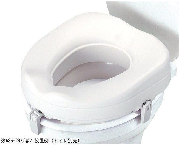 介護用品 補高便座 パット無 高さ17.5cm #10 535-270