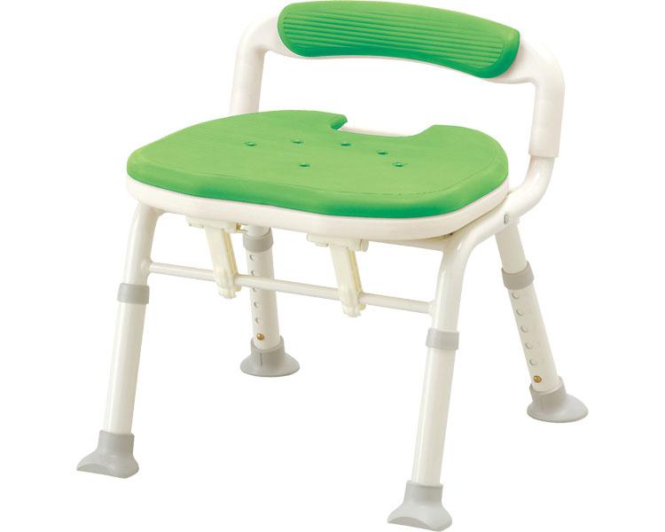 シャワーチェア 介護用品 風呂椅子 コンパクト折りたたみシャワーベンチ IC 骨盤サポートタイプ 536-380 背付き