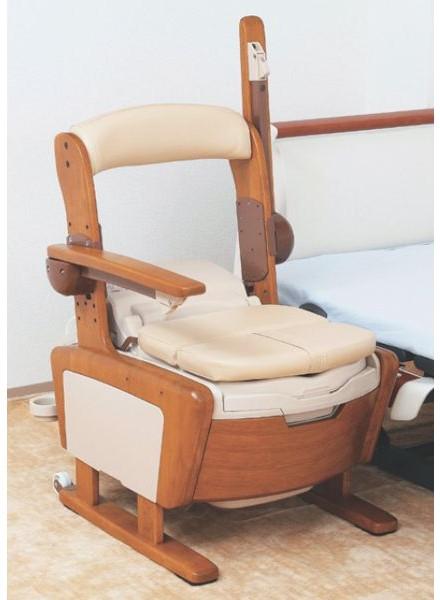 家具調トイレ シャワピタ ひじ掛けはねあげ AR-SA1 533-814 アロン化成 ポータブルトイレ