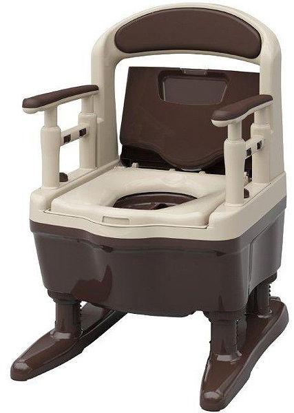 安寿 ポータブルトイレ ジャスピタ 533-900 標準便座タイプ アロン化成 簡易トイレ
