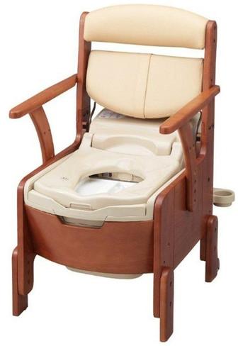 家具調トイレ シャワピタ ライト AR-SA1 533-818 アロン化成 ポータブルトイレ