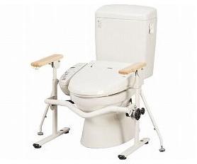 洋式トイレ用 ベストサポート手すり ひじ掛けはねあげ 627-010 トイレ用手すり