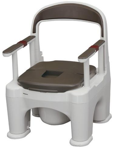ポータブルトイレ 座楽 ラフィーネ 脱臭長穴プラスチック便座タイプ PN-L30216 パナソニック電工 介護用品