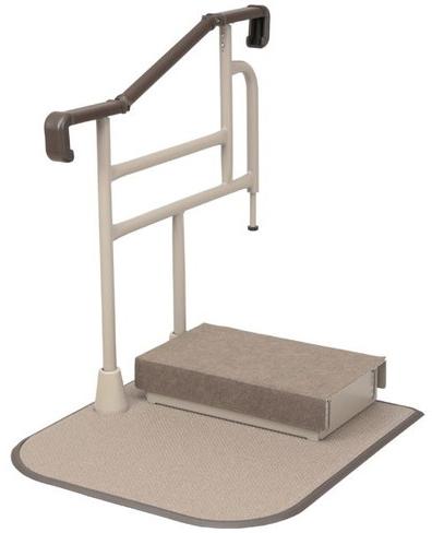玄関用 自在手すり ツインディ 片手すり踏み台付 XPN-L80203 介護用品