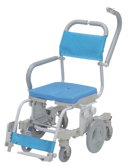 シャワーキャリー シャトレチェア6輪 穴無シート SW-608 ウチヱ 介護用品 入浴用車いす