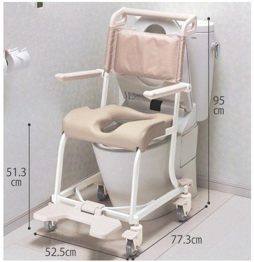 シャワーキャリー 水まわり用車いす 4輪キャスタータイプ ソフトシート Aタイプ 入浴用車いす 入浴用車椅子