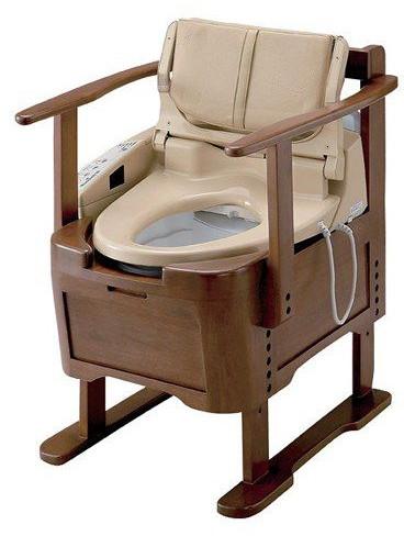 排泄 介護用品 ポータブルトイレ ウォシュレット付ポータブルトイレ らくらくリモコン付 EWRS290 排泄関連品 ポータブルトイレ