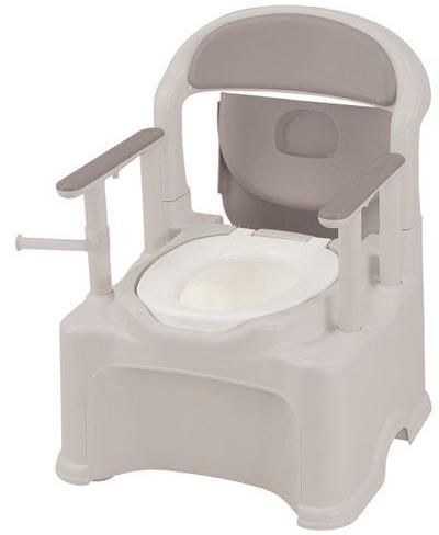 排泄 介護用品 ポータブルトイレきらく P2シリーズ PS2型 標準便座タイプ 47530
