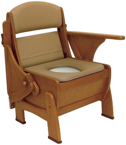 介護用品 排泄介護 ナーセントポータブルトイレ 木製ピボット型 キャスター付 ポータブルトイレ