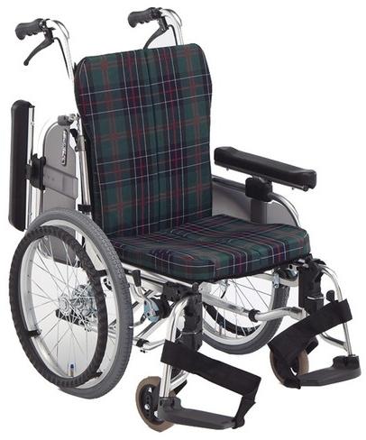 自走用 アルミ製コンパクトセミモジュール車いす AR-911S 車椅子 介護用品 hkz