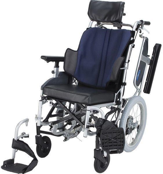 座王 NAH-F5 転倒防止装置付 ティルト介助式 車椅子 介護用品 hkz