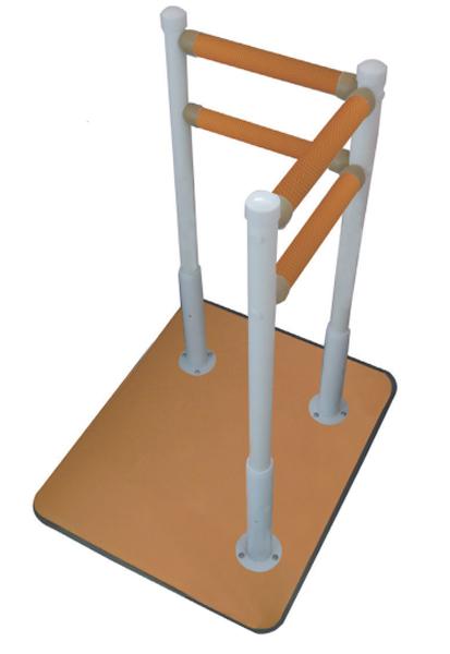 床置式 手すり 水回り向け手すり ふくよく床置式手すり60-L 介助バー アシストポール 介護用品 立ち上がり補助