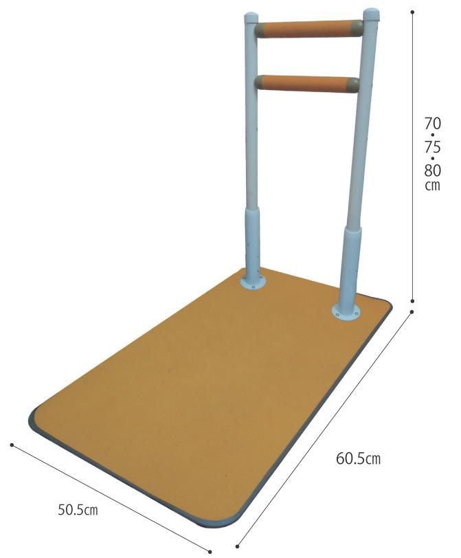 床置式 手すり 水回り向け手すり ふくよく床置式手すり60-I 介助バー アシストポール 介護用品 立ち上がり補助