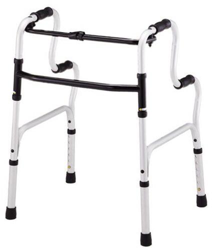 歩行器 介護 アルミ製アルコー2段 ハンドル固定歩行器 リハビリ 歩行車 歩行補助 高齢者用 hkz