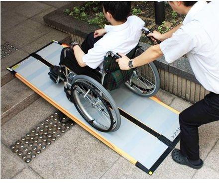 介護用品 車いす用段差解消スロープ ケアスロープ 長さ175cm 車椅子 車いす バリアフリー ポータブル