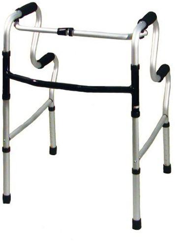 歩行器 介護 モアウォーク 固定式二段 WC4092AA リハビリ 歩行補助 高齢者用 hkz