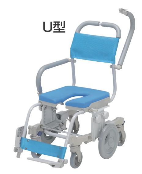 介護用 シャワーキャリー シャトレチェア6輪 SW-6083 O型バケツ付 ウチヱ 介護用品 入浴用車いす