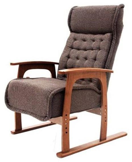 リクライニング肘コイルバネ高座椅子 紅葉