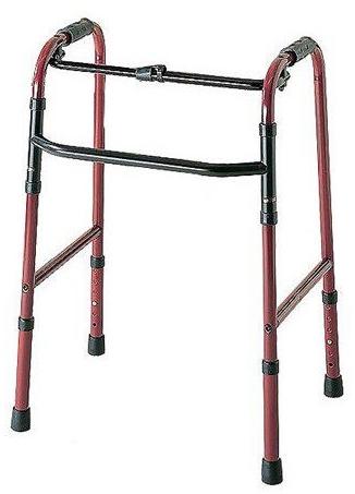 歩行器 介護 折りたたみ式歩行器 C2021 MRキャスター付 リハビリ 歩行補助 高齢者用 hkz