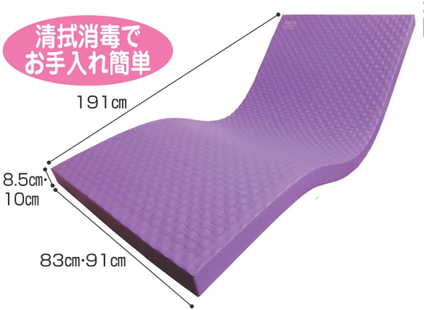 介護用品 夢快適マットレス リバーシブルマットレス 幅91cm×厚さ10cm