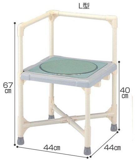 シャワーチェア ベンチシャワー 介護用品 風呂椅子 シャワーいす ターンテーブルタイプ L型 CAT-0101 座面回転