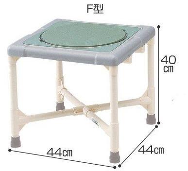 【介護用品 風呂椅子 お風呂イス シャワーチェア】【送料無料】 シャワーチェア 介護用品 風呂椅子 シャワーいす ターンテーブルタイプ F型 CAT-0201 座面回転