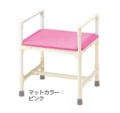 シャワーチェア 介護用品 風呂椅子 シャワーいす プッシュアップ型 マット固定タイプ CAA-9 矢崎化工