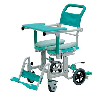 介護用 シャワーキャリー フロントレストタイプ アルミ製 CAK-600 矢崎化工 介護用品 入浴用車いす 入浴用車椅子 排便補助キャリー