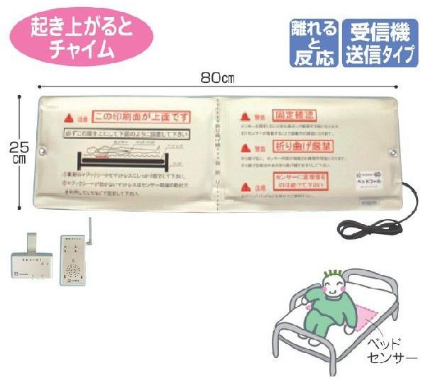 徘徊防止センサーマット 家族コール2 Bタイプ 送信・受信器セット テクノスジャパン