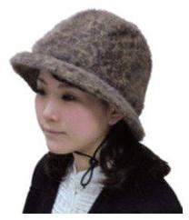 おでかけヘッドガード アンゴラハットタイプKM-1000Kキヨタ 転倒事故防止 頭部保護帽 介護用品