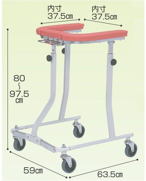 歩行器 介護 折りたたみ式歩行車四輪自在 TY157F日進医療器 リハビリ 歩行補助 高齢者用 hkz