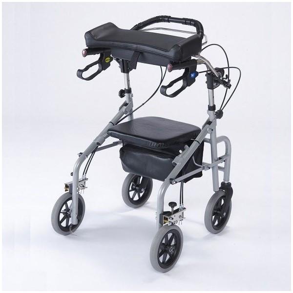 歩行補助車 ラビット WA-2 座面あり 幅狭タイプ シルバー 歩行器 リハビリ 歩行補助 介護 hkz