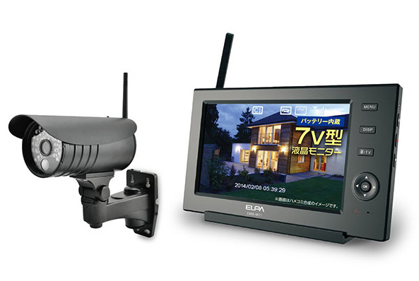 ワイヤレスカメラ&モニター CMS-7110