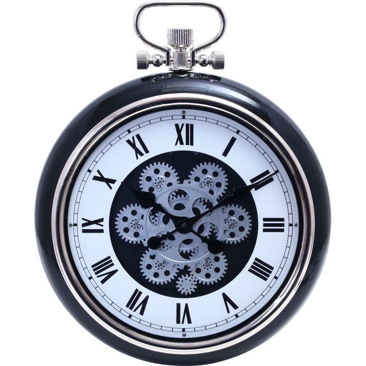 ★12時~12H全品P5倍★【送料無料】 時計 掛時計 掛け時計 歯車 壁掛け 時計 壁 丸型 時計 丸時計 おしゃれ とけい 40cm【代引き・後払い不可】