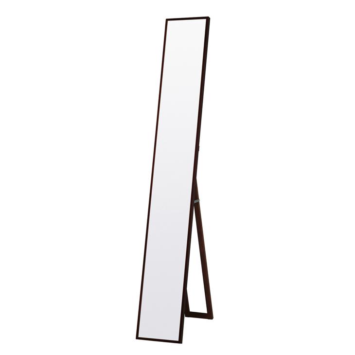 ★12時~12H全品P5倍★【送料無料】 鏡 ミラー 姿見 日本製 スリム 全身 飛散防止 木製 天然木 ツガ材 ウレタン塗装 ミラー 3mm厚 国産 スタンドミラー 【代引き・後払い不可】