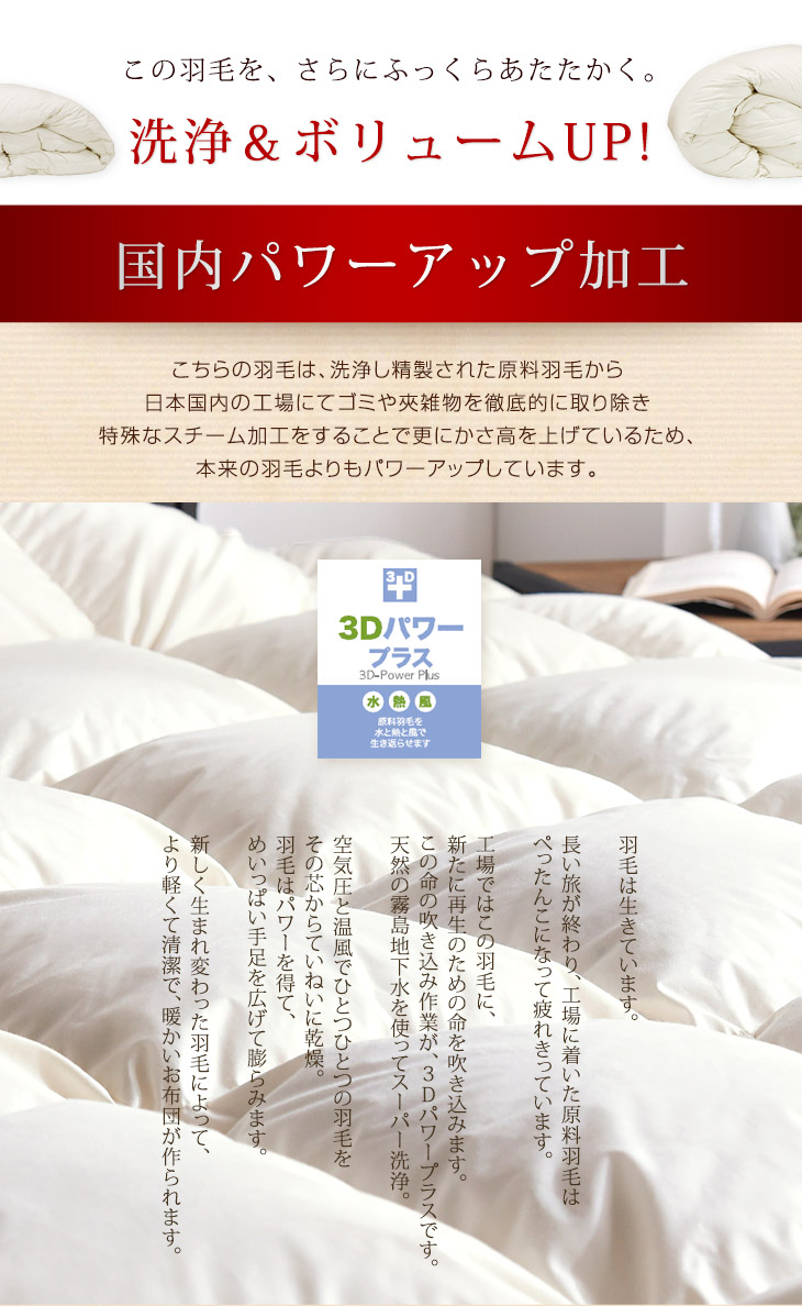 Align the two pieces, fit all season Duet feather futon CIL red label deodorant antibacterial allele G plus single long made in Japan domestic power-ups feather futon white down feather duvet