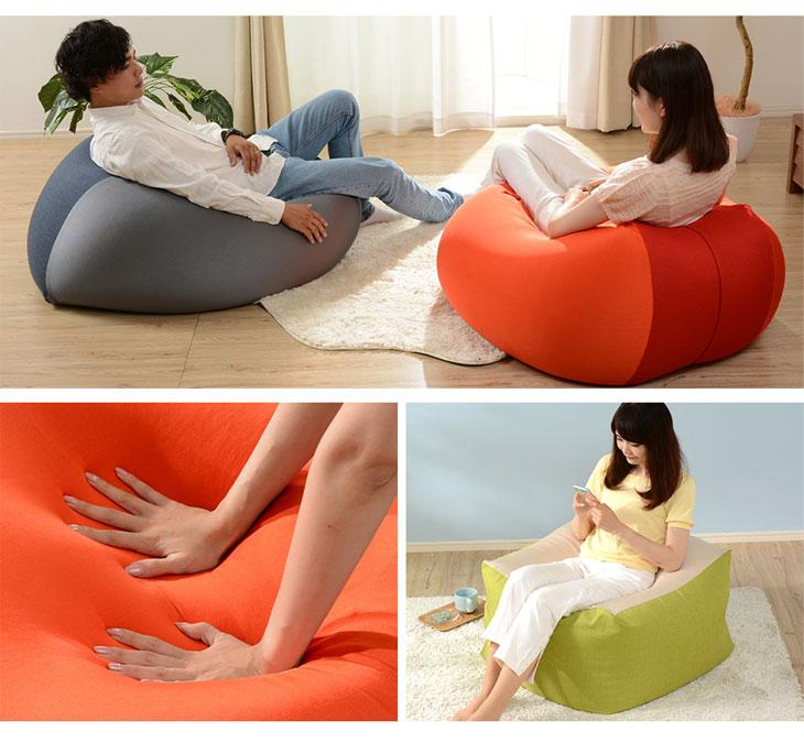 特大 ビーズクッション マイクロビーズ XLサイズ 洗える カバー ソファ 座椅子 ジャンボ ビーズ クッション 大きい ビッグ スゴビーズ