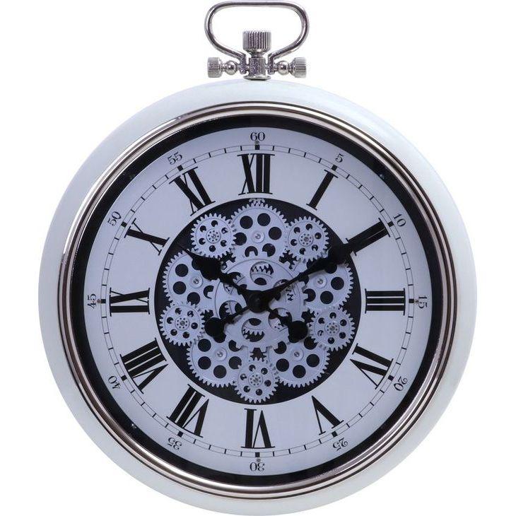 ★20時~4H全品P5倍★【送料無料】 時計 掛時計 掛け時計 歯車 壁掛け 時計 壁 丸型 時計 丸時計 おしゃれ とけい 大きい ビッグ 直径52cm【代引き・後払い不可】