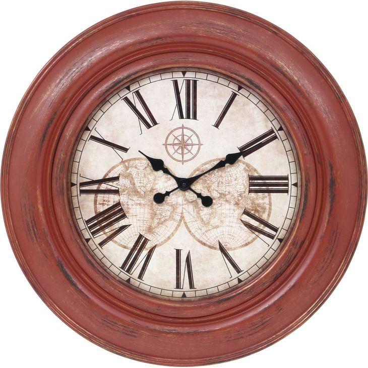 ★12時~12H全品P5倍★【送料無料】時計 掛時計 掛け時計 大きい時計 ビッグ 壁掛け 大きい 時計 赤 レッド 丸型 時計 丸時計 おしゃれ とけい【代引き・後払い不可】